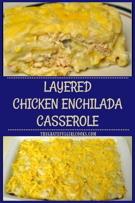 Arrange 4 tortillas to cover the bottom of baking dish. It's easy to make this yummy layered chicken enchilada ...