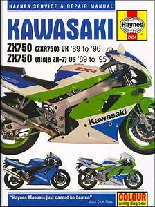 Kawasaki Ninja Zx7  Zx750  Zxr750 Repair Manual 1989
