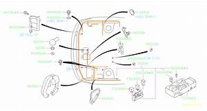 2007 Subaru Wrx Clamp Altr Harness  Wiring  Main  Front