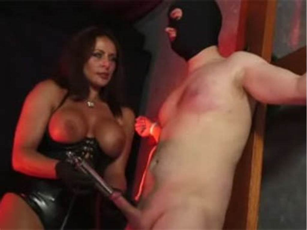 #Wild #Busty #Mistress #In #A #Latex #Corset #Whipping #Her #Roped