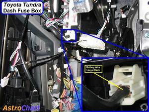 07 Toyota Tundra  Dash Fuse Box Side Connections  12v Constant