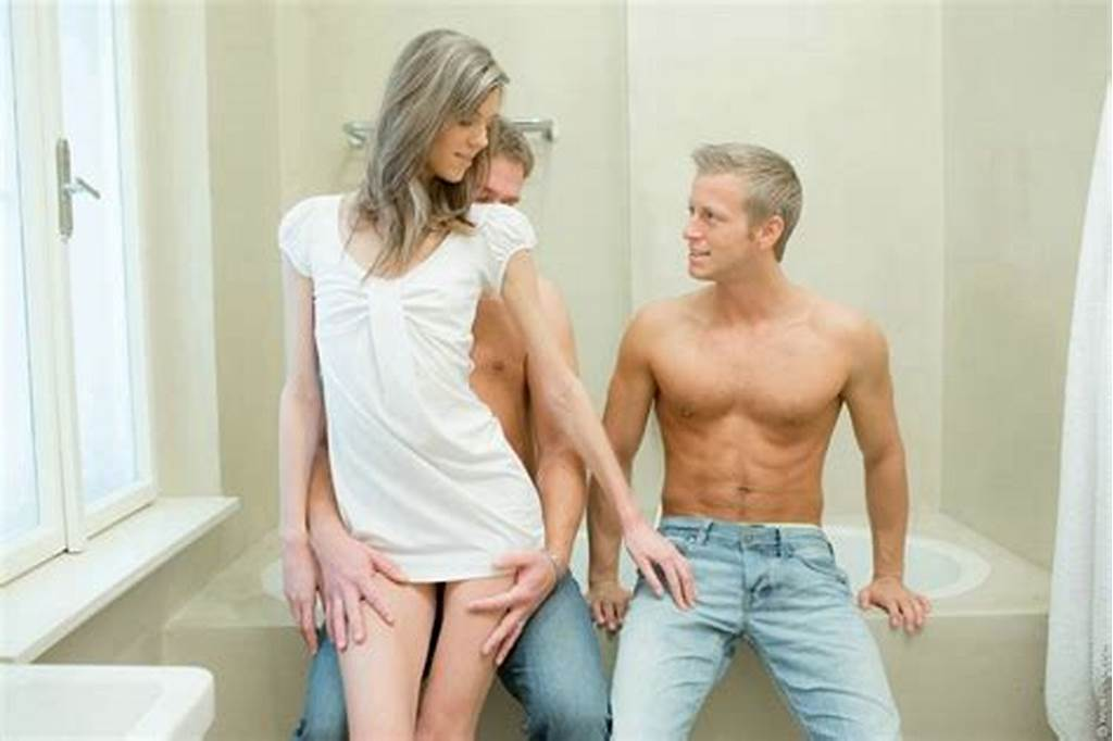 #Sexy #Teen #Fucked #From #Both #Ends #In #Bathroom #Threesome #Sex