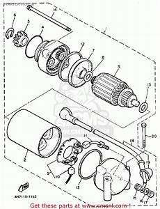 Yamaha Xj750 Maxim 1983  D  Usa Starter Motor