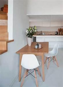 Table De Cuisine Grise : petite table de cuisine grise design de cuisine ~ Dode.kayakingforconservation.com Idées de Décoration