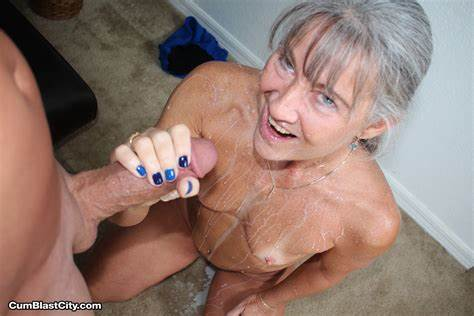 Breasty Milf Blue Haired Fucking A Facials
