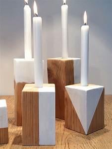 Holz Kerzenständer Selber Machen : diy trendige kerzenst nder aus holz selbst herstellen und bemalen hello mime ~ Bigdaddyawards.com Haus und Dekorationen