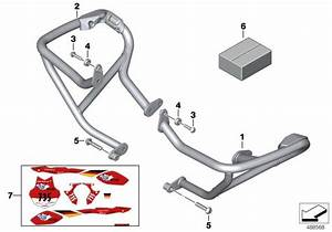 Bmw R1200r Right Engine Protection Bar  Reinforcement