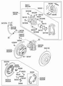2011 Hyundai Santa Fe Pad Kit Rear   Rear  Rr    Disc