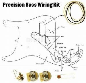 Precision Bass Wiring Kit P Cts 250k Cloth Wire  047 Switchcraft Jack Diagram For Sale Online