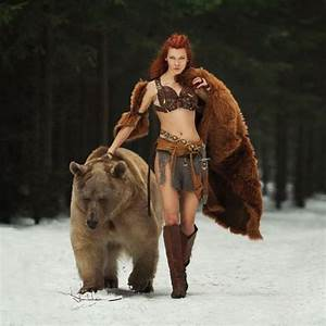 Bear, Cosplay, 2, Brave, Female, Barbarian, Ranger, Redhead