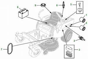 Z445 John Deere Parts Diagram