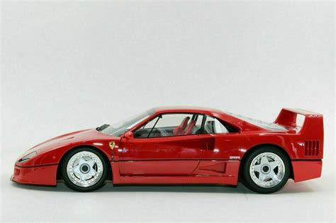 This ferrri f40 light weight lm wing car is a 1/12 scale die cast model. TOP MARQUES 1/12 Scale 1987 FERRARI F40 in stunning RED Large Scale Model Car #TopMarques # ...