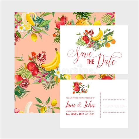 Happy Anniversary Card With Floral Decoration Stock Vector