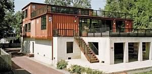 maison container de deux etages pour un couple aux etats With maison container a vendre