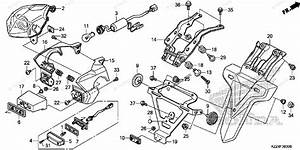 Honda Motorcycle 2014 Oem Parts Diagram For Taillight