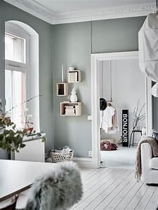 Grau Grün Wandfarbe : wandfarbe gr n grau wandfarbe inspirationen pinterest wandfarbe gr n wandfarbe und grau ~ Frokenaadalensverden.com Haus und Dekorationen