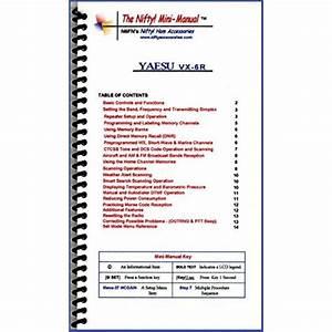Instruction Manual For The Yaesu Vx