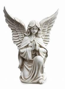 Praying Angel Kneeling Pose Garden Statue | Angel ...