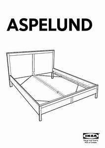 Ikea Aspelund Bed Frame Queen Furniture Download User