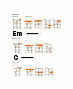 Complete Guitar Chord Chart Template 5 Free Pdf