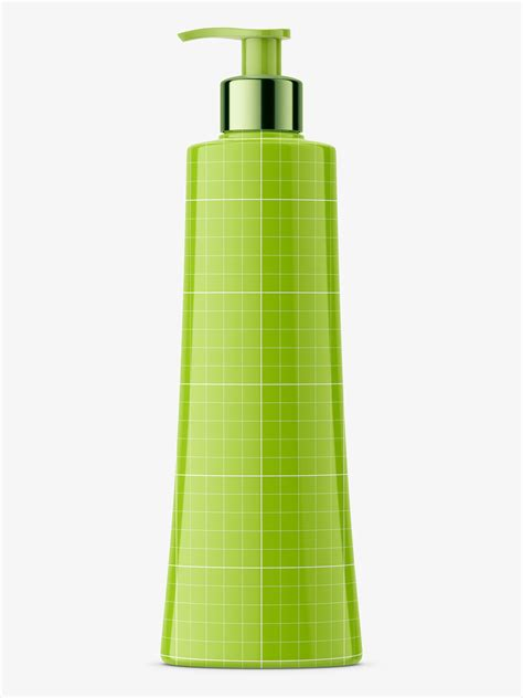 The layers in psd file are segregated and colorized. Glossy balsam bottle mockup - Smarty Mockups