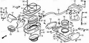 Honda Motorcycle 1983 Oem Parts Diagram For Air Cleaner