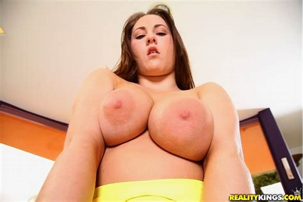 #Busty #Girl #Hailey #Brooke #Pressing #Her #Fat #Boobs #Against