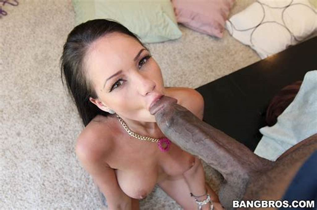 #Raven #Bay #In #Tiny #White #Glasses #Girl #Takes #Big #Dick