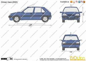 Citroen Saxo Vector Drawing