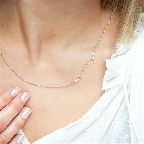 Personalised Double Initial Letter Necklace By Bloom ...