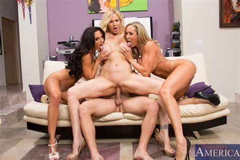 Stockinged Daughter Blond Foursome