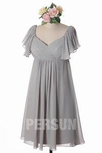 pink cap sleeve ruching knee length chiffon formal With robe cocktail femme ronde