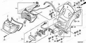 Honda Motorcycle 2017 Oem Parts Diagram For Taillight 2