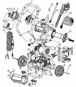 Greenworks Pressure Washer Parts  Breakdown  U0026 Owners Manual