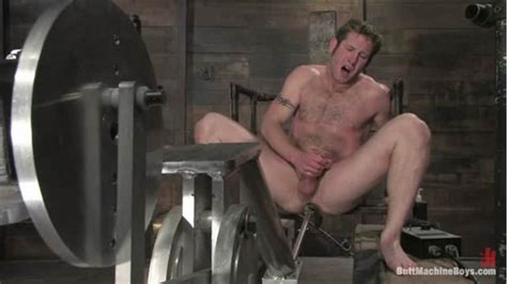 #Hairy #Blond #Guy #Fucked #By #Machine