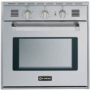 Verona Vebig24nss 24 Inch Single Gas Wall Oven With 2 0 Cu