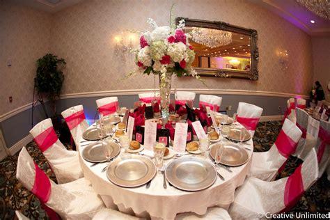 Pink wedding at the Crystal Ballroom inside the Radisson