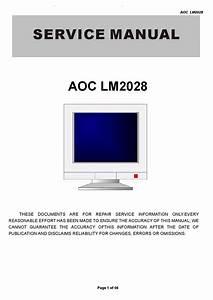 Manual De Servi U00e7o Do Monitor Aoc Modelo Lm