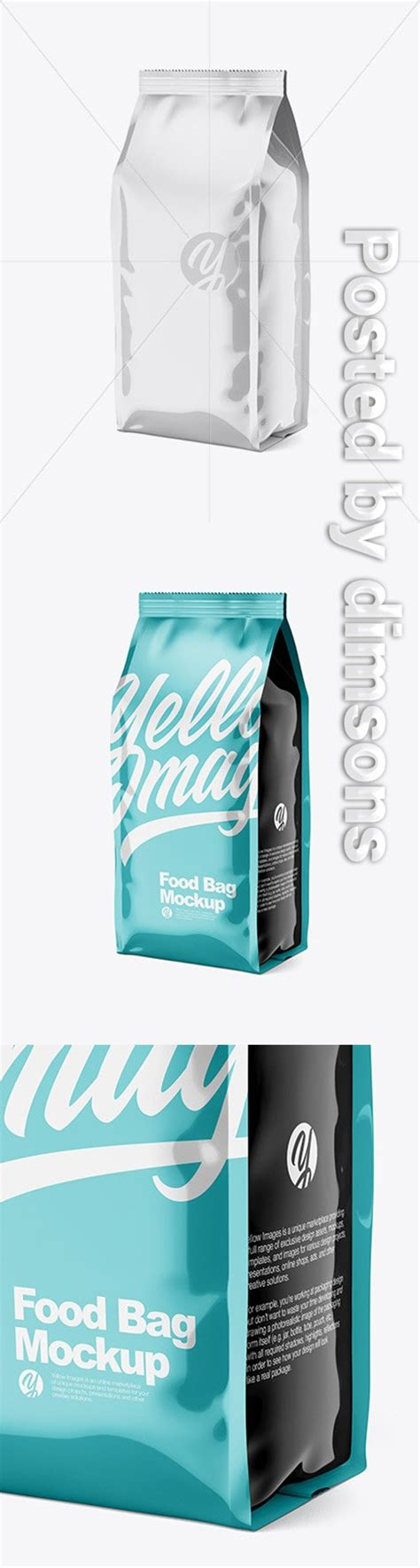 This mockup is available for purchase only on yellow images. Glossy Food Bag Mockup 45392 TIF » NitroGFX - Download ...