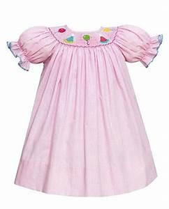 Petit Bebe Girls 39 Smocked Pink Bishop Birthday Party Dress