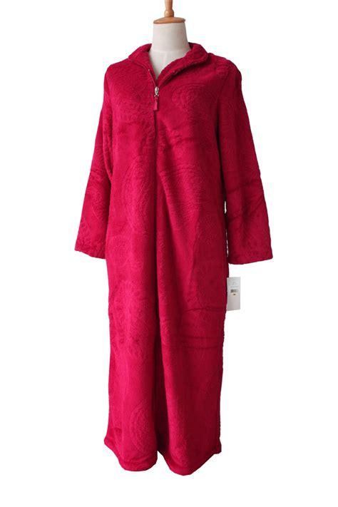 robe de chambre chaude femme european style zipper coral velvet