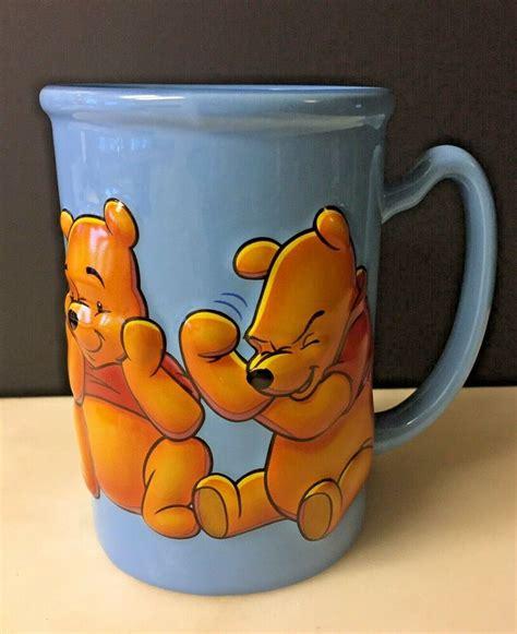 Shop disney at the amazon dining & entertaining store. Disney Store Winnie The Pooh 3D Hunny Pot Blue 16 oz Coffee Mug / Tea Cup 436006372726 | eBay ...