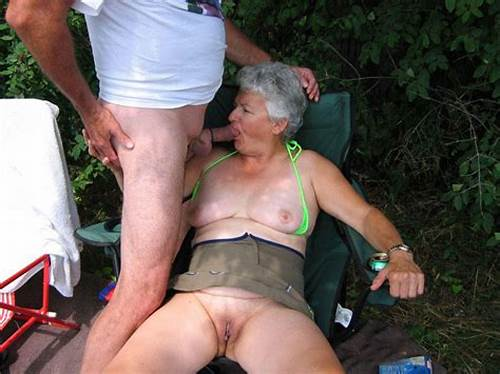 Strong Granny Sucking Young Dildo