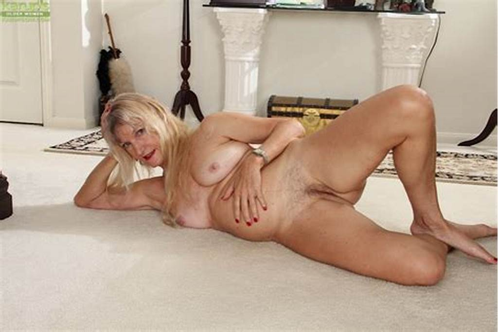 #Blonde #Granny #Lisa #Cognee #Demonstrates #Her #Shaved #Pussy #In
