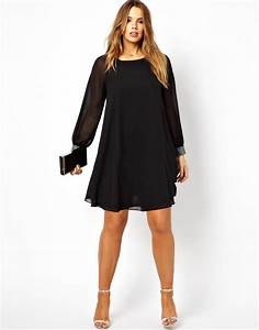 asos curve asos curve shift dress with embellished cuff in With robe cocktail femme ronde