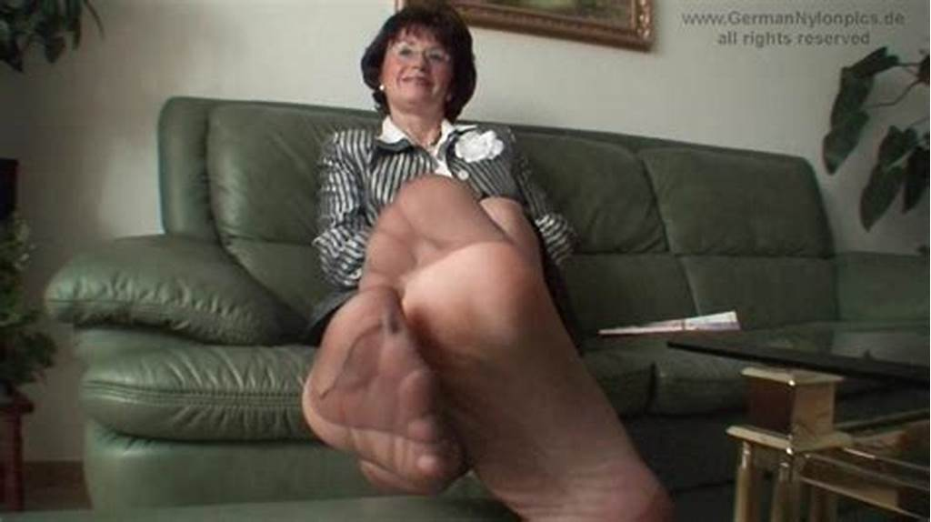 #Aunty'S #Smelly #Nylon #Feet #In #My #Face