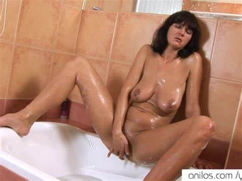 Immense Soapy Slit Dildos Bouncing