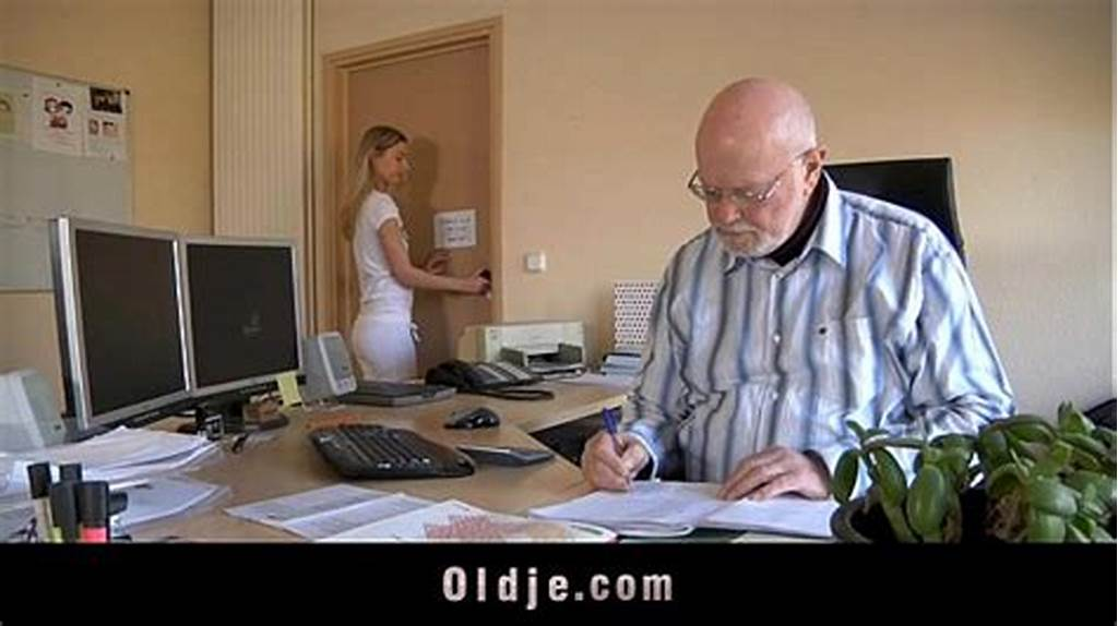 #Old #Boss #Evaluates #His #Young #Secretary #With #Fuck