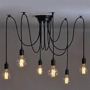Amazon Luminaire Suspension : 6 pcs luminaire suspension style europ en moderne ikea lampe pendante lampe plafonnier diy ~ Teatrodelosmanantiales.com Idées de Décoration