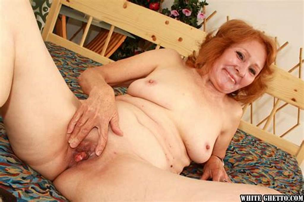 #Redhead #Granny #Izida #Spreading #Her #Shaved #Moist #Pussy